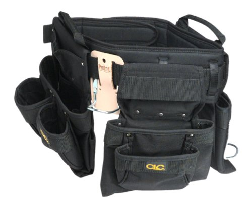 Custom Leathercraft 5605M Black, 18-Pocket, 5-Piece, Professional Carpenters Combo