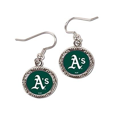 MLB Oakland Athletics Round Earrings, Large, Multi