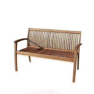 Panca in legno arredo da giardino design moderno 2 posti for Amazon arredo giardino