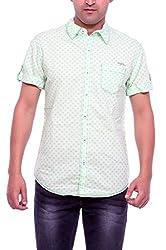 Mufti Men's Casual Shirt (MFS-5868_Green_Medium)