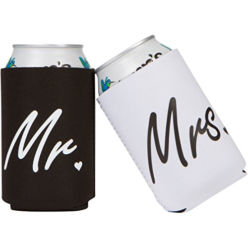 Mr and Mrs Can Coolers Gift for Wedding Engagement Anniversary Couples
