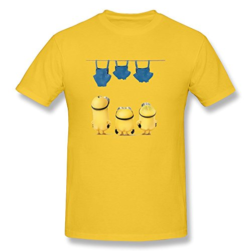 WAYNEY Mens Fashion Despicable Me Nude Minions T-shirts Short Sleeve