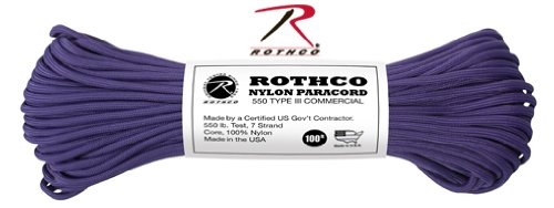 Rothco Nylon Paracord (Purple, 550-Pound 100-Feet)