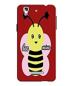 EU4IA Bee Mine Pattern MATTE FINISH 3D Back Cover Case For MICROMAX YU YUREKA...