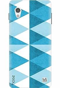 Noise Designer Printed Case / Cover for InFocus M370 / Aztec / Blue Blocks Design