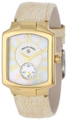 Philip Stein Women's 21GP-FW-OG Classic Gold Plated Gold Ostrich Strap Watch by Philip Stein
