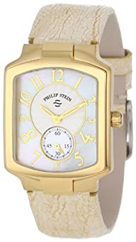 Philip Stein Women's 21GP-FW-OG Classic Gold Plated Gold Ostrich Strap Watch