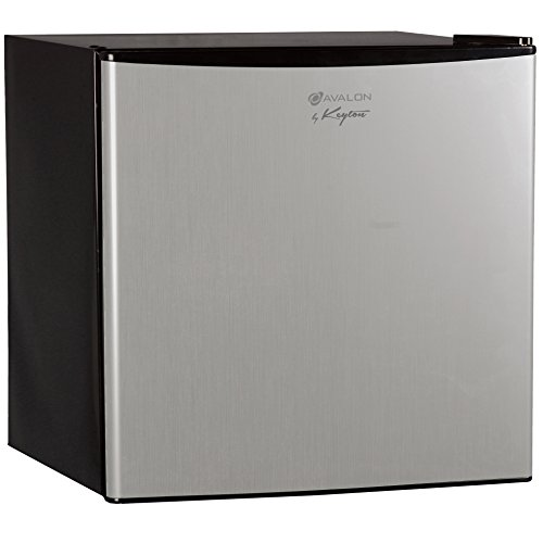 Avalon by Keyton Compact Single Door Refrigerator & Freezer- 1.6 Cubic Feet, Compact, Adjustable Legs, - UL & Energy Star Certified - Stainless Steel (Refreshment Fridge compare prices)