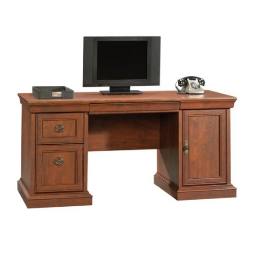 Buy Low Price Comfortable Executive Computer Credenza Desk – Coach Cherry Finish (B004QER00E)