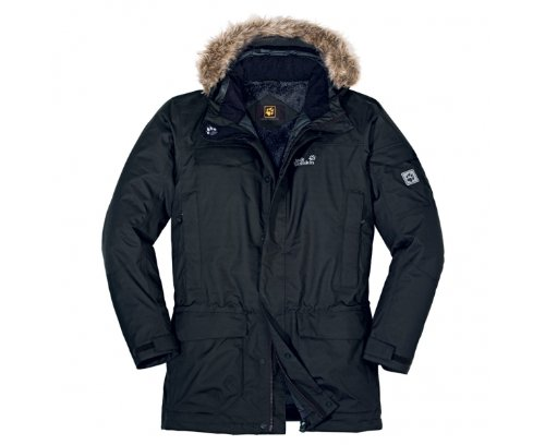 JACK WOLFSKIN Fairbanks Parka Men's Jacket, Black,