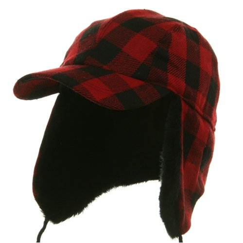 Buffalo Plaid Hunter Cap - Red W28S34E