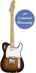 Fender Road Worn '50s Telecaster, Maple Fretboard with Gear Guardian Extended Warranty - 2-Tone Sunburst