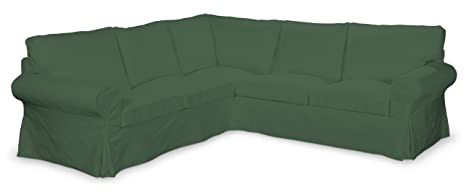 FRANC-textile 640–702–06 ektorp ecksofabezug, panama housse en coton vert