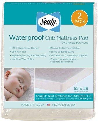 Sealy Waterproof Crib Mattress Pad 2 Pack   Lacey L. Johnsonefe