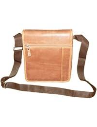 Style98 Premium Quality Leather Travel Messenger/Sling Bag For Men,Women,Boys & Girls - Brown