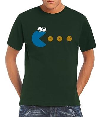 Touchlines - Cookie - Pacman T-Shirt Bottle Green, XXXL