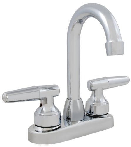 LDR 011 5151CP Double Handle Bar Faucet, Chrome