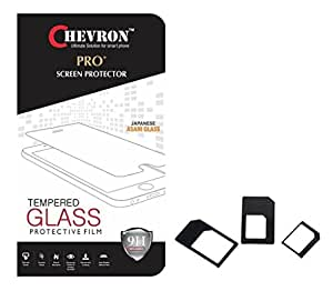 Chevorn 0.3mm Pro Tempered Glass Screen Protector For Samsung Galaxy J3 With Multi Sim Adapter