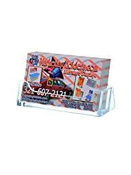 3 X Marketing Holders Qty 10 Clear Plastic Business Card Holder Display Counter
