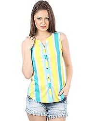 IRALZO Yellow Stripe Shirt