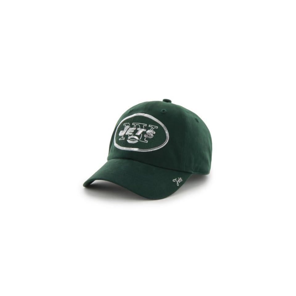 NFL New York Jets Womens Sparkle Team Color, Dark Green