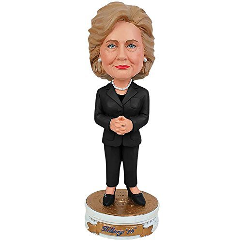 ヒラリー・クリントン2016Bobblehead Bobber Standing on大統領Pedestal