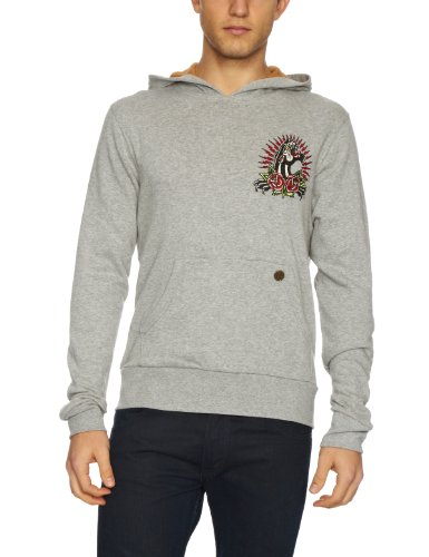 Ed Hardy Panther and Roses Men's Jumper Heather Grey Small
