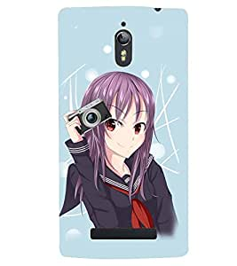 Printvisa Cute Girl Photography Pic Back Case Cover for Oppo Find 7