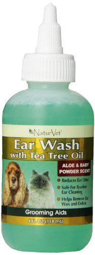 naturvet ear wash plus tea tree oil for dogs and cats 4 oz liquid made in usa health beauty. Black Bedroom Furniture Sets. Home Design Ideas