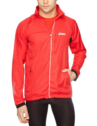 Asics Men's Jacket Det Sleeves - True Red, Medium