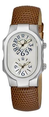 Philip Stein Women's 1-F-FAMOP-ZBR Signature Brown Lizard Leather Watch