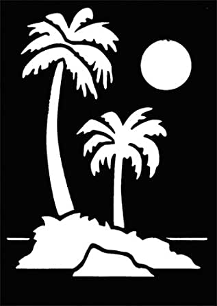 Amazon.com: Stencil Palm Trees (K), Brass