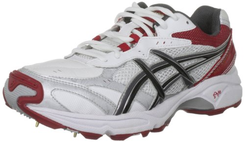 Asics Men's Gel Strike Rate 2 White/Charcoal/Cricket Ball Cricket Shoe P115Y 0194 14 UK