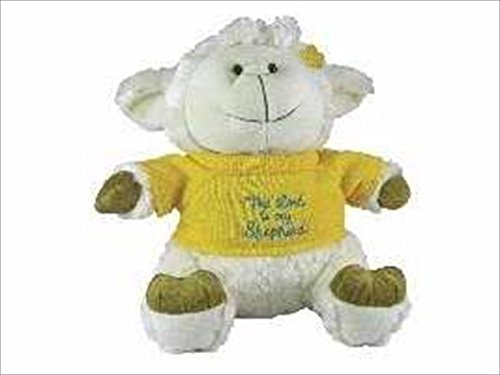 swanson-christian-supply-61318-toy-plush-lamb-with-sweater-lord-is-my-shepherd-95-in-by-swanson