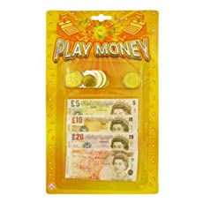 CHILDRENS KIDS PRETEND FAKE TOY PLAY MONEY NOTES & COINS ROLE PLAY AT SHOPS