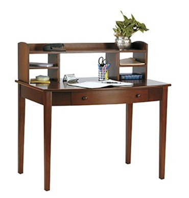 Buy Low Price Comfortable Computer Desk with Hutch in Walnut Finish (B004LVVAGM)