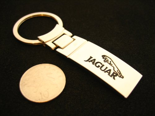 Chrome car logo keyring / keychain for JAGUAR (L)