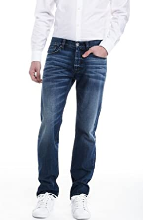 Armani Exchange Mens Relaxed Whiskered Jean