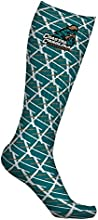 Coastal Carolina CCU Chanticleers Socks Lines Design pair one size fits all
