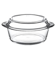 Pasabahce Borcam Round Casserole with Cover , 2 Litres