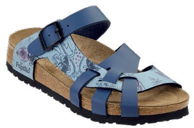 Cheap Papillio Pisa Womens Sandals Soft Footbed Birko-Flor, Collage Blue / Gentian, Size 35 EU With A Narrow Insole, 2.5 N US (B001C95QWU)