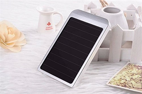 Solar Charger - Energy Oasis Solar Portable Phone Battery Charger 2600mah Power Bank and Travel Charger. Utilizing Both Solar And/or Electrical Energy to Fully Charge Wireless Devices on the Go. Freedom to Travel Anywhere with the Borch Solar Power Charger. External Battery Pack Compatible with Iphone 6 5.5 4.7 Inch 5s 5c 5 4s 4, Ipad Air, Other Ipads, Ipods(apple Adapters Not Included), Samsung Galaxy S5, S4, S3, Note 3, Note 4 Galaxy Tab 3, 2, Nexus 4, 5, 7, 10, HTC One, One 2 HTC One M8 ,Motorola Atrix, Droid , Lg Optimus, Most Kinds of Android Smart Phones and Tablets,windows Phone, Gopro Camera and More Other Kindle, Nook, and All Standard USB 5v/1a Devices. (Silver)