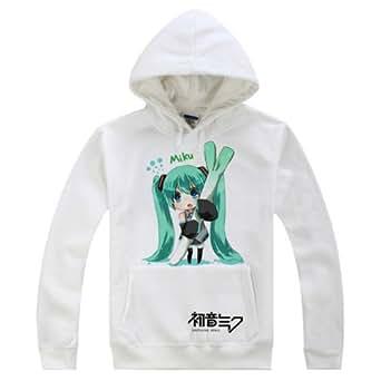 New VOCALOID 2 Miku Hatsune Cosplay Costume Anime Long Sleeves Hat Hoodie Medium