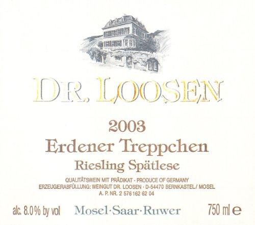 2003 Dr Loosen Erdener Treppchen Riesling Spatlese 750 Ml