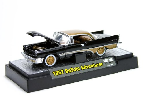 Castline Auto-Thentics M2 Machines 1957 DeSoto Adventurer - Black & Gold - 1