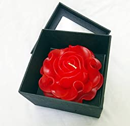 Red Rose Candle in Mulberry Paper Box for Spa Party, the Best Gift