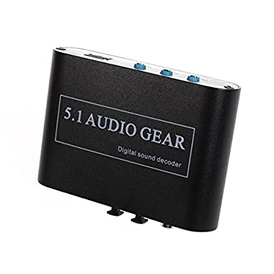 Panlong 5.1 Audio Gear Digital Sound Decoder Converter - Optical SPDIF/ Coaxial Dolby AC3 DTS to 5.1CH Analog Audio