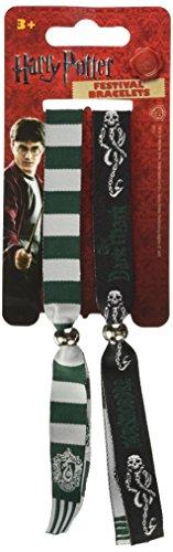 Harry Potter Set 2 Bracciali Slytherin Serpeverde,Confezionati Ufficiali