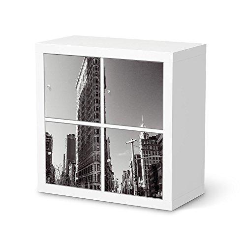 Mbel-Folie-fr-IKEA-Kallax-Regal-4-Trelemente-Dekor-Folie-Klebefolie-Sticker-Aufkleber-Mbel-umgestalten-kreativ-einrichten-Schlafzimmer-Mbel-Gestaltungsideen-Design-Motiv-Manhattan