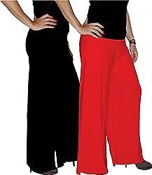 Xarans Sharara Stylish Looking Black & Red Palazzo
